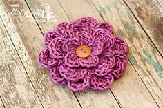 This patten can be use with any yarn and appropriate hook for yarn. Great flower embellishment for hats, bags and hair wraps. This is my first pattern I'm sharing so I hope you enjoy it!!