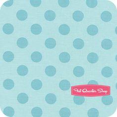 Nursery Fabric: Fatquartershop.com - Medium Cotton Dots by Riley Blake Designs - Aqua Tone on Tone Yardage SKU# C430-20 $10.75