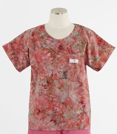Scrub Med Womens Scrub Top in Hibiscus - $30