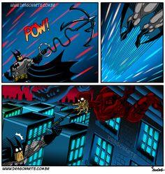 Eduardo Lucas Nascimento, known as Dragonarte, is a Brazilian comic artist. He draws Marvel and DC Comics universe in his own style Batman Artwork, Batman Comic Art, Batman Vs Superman, Batman Comics, Sci Fi Comics, Funny Comics, Humor Batman, Funny Batman, Comedy Cartoon