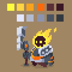 Latest idle study - 64x64, 11 colors, 4 frames - PixelArt Game Character Design, Character Design Animation, 8bit Art, Anime Pixel Art, Pixel Art Games, Graphic Design Typography, Creature Design, Art Tutorials, Game Art