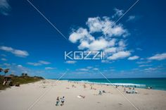 Wide Shot of Beach - A wide angle shot of the beach in Palm Beach, Florida.
