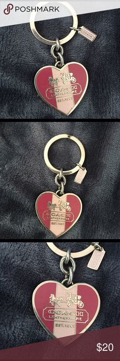 Coach heart keychain Coach heart shaped keychain with coach logo Coach Accessories Key & Card Holders