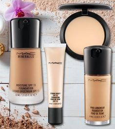 11 Best MAC Foundations For Different Skin Types, Don't we all wish to have a flawless and uniform complexion? A foundation does the job of creating an even base while it covers all your flaws. The beauty, Mac Studio Fix Foundation, Best Mac Foundation, Mac Mineralize Foundation, Mac Studio Fix Fluid, Foundation For Oily Skin, Mac Makeup Looks, Best Mac Makeup, Best Makeup Products, Mac Products