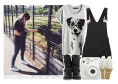 """Zoo in London at sunny day with Gemma"" by stylistdirectioner ❤ liked on Polyvore featuring Vero Moda, Fujifilm, Frye, styles, 1DFamily, gemma and gemmastyles"