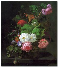 Bloemen schilderij van Rachel Ruysch - mypainting http://www.mypainting.nl/webshop/104838-Rachel-Ruysch