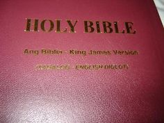 Tagalog-English Diglot Bible [Leather Bound] by American Bible Society What Is Bible, Life Application Study Bible, Bible Society, Tagalog, King James, New Testament, English, Languages, American