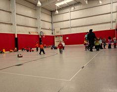 Students in our Academy for Early Learning (AEL) enjoy playing in the gym!