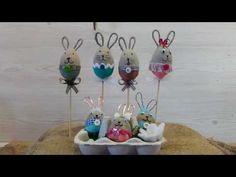 Oster Deko aus Beton kleine Hasen - YouTube