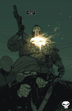 The Punisher #19 - interior art by Mitch Gerads, colors by Andy W. Clift