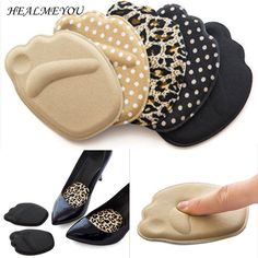 2 Pairs High Heel Shoes Fore Sole Cushion Pad Mat Insoles Anti-Slip Foot Protect