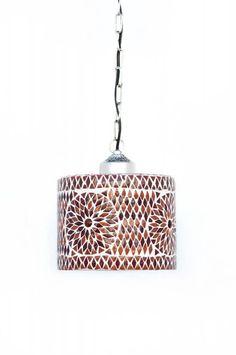 Oosterse lamp mozaiek oranje