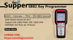 Super SBB2 Key Programmer is hand-held auto key programmer with special functions. SBB2 key programmer has more functions than sbb key programmer and ck100 key programmer, including IMMO+Odometer+OBD Software+TPMS Full Function.