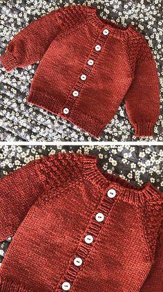 Baby Boy Knitting Patterns Free, Baby Sweater Patterns, Knitting For Kids, Easy Knitting, Cardigan Pattern, Cardigan Bebe, Knitted Baby Cardigan, Knit Baby Sweaters, Baby Boy Cardigan