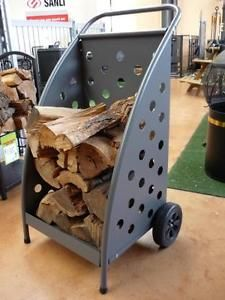 Wood Trolley Carting Firewood Deluxe Brand NEW Fire Place Wood Heater | eBay