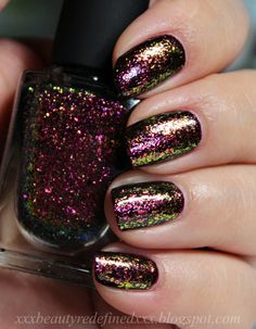I Love Nail Polish Holographic Ultra Chrome Flakies - Electric Carnival