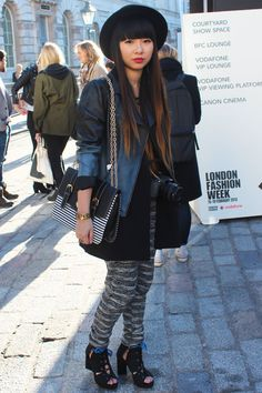 Ombre hair AND jacket? Gorgeous!