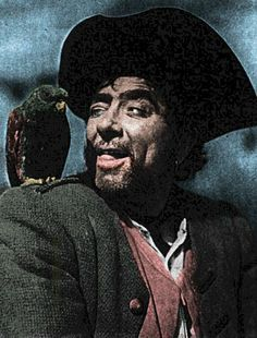 Robert Newton as Long John Silver, a British tv programme aired in the for Cecily! (A double for Keith Moon) lol Pirate Day, Pirate Wench, Pirate Life, Mark Summers, Treasure Planet, Pirate Treasure, Robert Newton, Long John Silver, Pirates