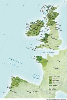 """Durante o movimento """"renovacionista"""" da cultura celta, no século 19 e.c., muito foi dito e inventado sobre esse povo. O mito das nações celtas, que motivava um sentimento de """"identidade cultural"""" nos países que se proclamaram parte desse grupo, é um exemplo. Sabe-se que essas nações são apenas uma parte do território onde sua cultura ficou bem preservada. Haviam celtas desde a Irlanda até a Turquia, e em todo lugar onde eles viveram há evidências de seu modo de vida."""