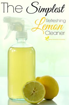 The Simplest, Refreshing Lemon Cleaner // deliciousobsessions.com // #DIY #natural #nontoxic #household #cleaners #lemon