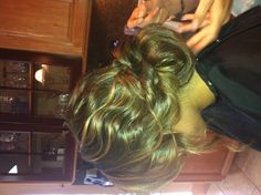 Curls in a Lose up-do