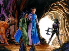 """King of Dragon Pass Part #246 - Ernalda Feeds the Tribe: Part VI > Umathkar seeks to leave the earthen tunnel with the gods she has rescued. But a terrible woman blocks their way, looking fierce and brandishing an axe. """"You cannot leave here. The tribe is sundered, and cannot be so easily mended. Your man committed kinstrife, and so I, who have not been born yet, have been charged with the task of keeping broken things broken."""