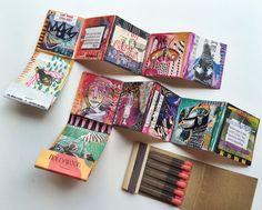 make it artsy: episode 10 Cadeau Surprise, Art Zine, Accordion Book, Matchbox Art, Altered Book Art, Art Journal Techniques, Art Journal Pages, Art Journals, Creative Journal