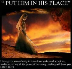 Rebuke Satan and he will flee from you!!!