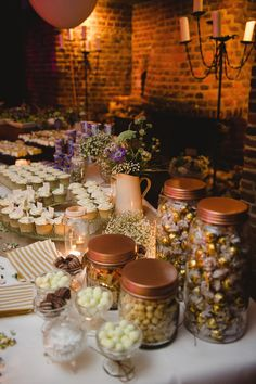 Rustic & Stylish White Wild Flower Barn Wedding at Great Fosters with a Sassi Holford Dress Great Fosters, Wedding Ceremony, Wedding Venues, 75th Birthday Parties, Afternoon Wedding, Wedding Sweets, Candy Buffet, Big Day, Wild Flowers