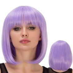 Short Straight Full Bang Bob Hairstyle Film Character Cosplay Wig #CLICK! #clothing, #shoes, #jewelry, #women, #men, #hats, #watches