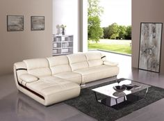 modern living room with sofa chaise lounge