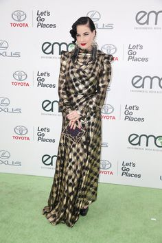 Dita Von Teese wore the Jean dress from our #AW1516 Capsule Collection at the 25th Annual EMA Awards in California on Saturday night.