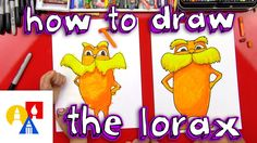 How To Draw The Lorax. Great directed drawing activity for kids. For over 350 Kindergarten videos visit: https://www.pinterest.com/eclearning/kindergarten-videos/