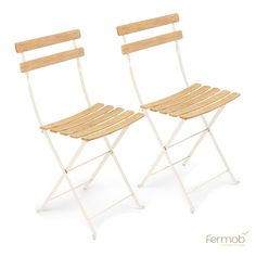 Fermob Bistro Natural Chair Pair