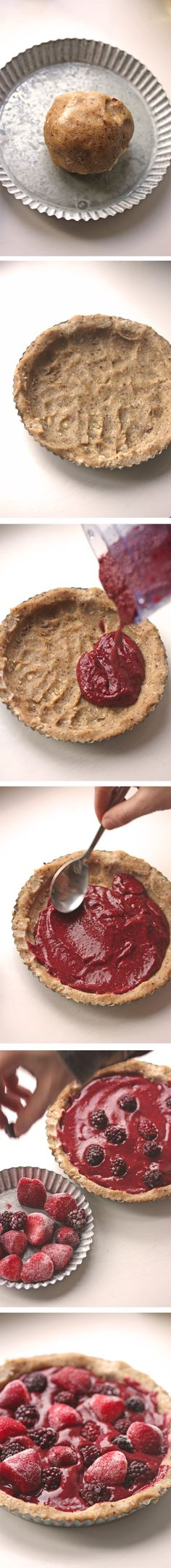 Simple Chia Pudding Pie. #no-bake #raw #vegan