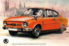 Skoda 110 R Coupe 1970 Old Cars, Cars And Motorcycles, Retro, Blue Prints, Bike, Engineer, Vehicles, Illustrations, Image