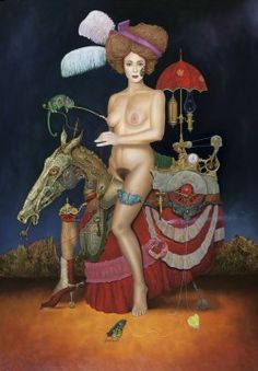 """Saatchi Art Artist Frank Kortan; , """"THE LADY WITH A CHAMELEON AND"""" #art"""