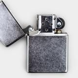 Zippo Lighter - 1941 Replica Brushed Chrome - Cool Material