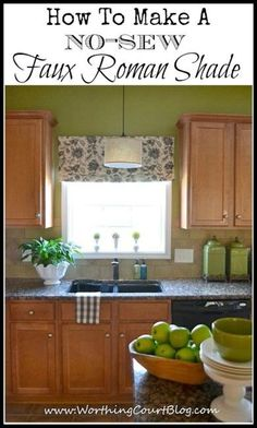 How to make a no sew faux roman shade