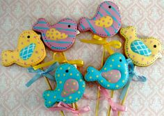 Birds, cookies & icing patch
