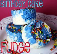 Birthday Cake Fudge -- this yummy fudge tastes like birthday cake!