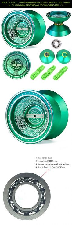 Beboo YoYo Ball Green Unresponsive Yoyos - Pro YoYo Toy - Metal Alloy Aluminum Professional Yo Yo Bearing Reel - 3 Strings + YoYo Glove #plans #shopping #yo-yo #racing #technology #professional #tech #fpv #parts #drone #kit #products #camera #gadgets