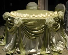 green cake table or sweetheart table reception wedding flowers, wedding decor… Wedding Decorations, Table Decorations, Centerpiece Wedding, Decor Wedding, Tall Centerpiece, Wedding Linens, Flower Centerpieces, Bridal Party Tables, Head Tables