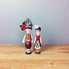 Cute Pair of Folk Souvenir Dolls/ Figures by VioletsAtticVintage, £12.00