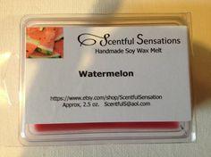 Watermelon Soy Scented Wax Melts- Maximum Scented on Etsy, $3.50 Scented Wax Melts, Soy Wax Melts, Watermelon, Homemade, Etsy, Decor, Dekoration, Decoration, Home Made