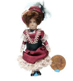 "Pat Boldt - antique reproduction porcelain doll, 2.75"" high; sold on ebay for $40"