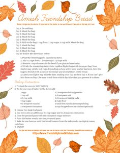 Printable Fall Leave