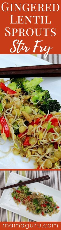 Gluten Free ♥ Vegan ♥ Lentil Sprouts ♥ Stir Fry ♥ Asian Recipe ♥ Healthy Recipe ♥ Superfoods ♥ Nutrition