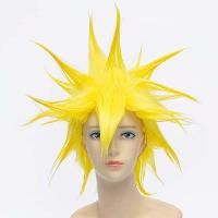 Anime Dragon Ball Vegetto Anti Alice Hair Fluffy Straight Short Sparkling Yellow Cosplay Wig