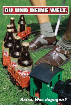 Astra Werbung: Bier Bimmelbahn